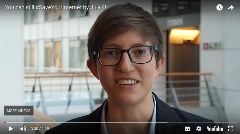Europarlemintslid Julia Reda oer it rêden fan it iepen ynternet