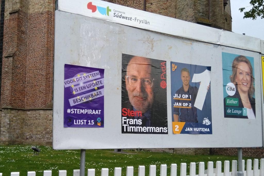 Workum verkiezingsposter